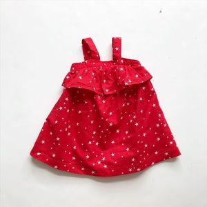 Babygap red star print dress EUC 12-18 months